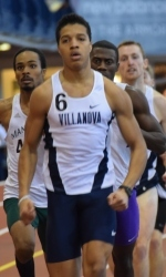 Ishmael Muhammad ran the No. 7 time in the Big East in his first collegiate 800.